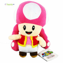 "New Super Mario Brothers Bro. Toad Plush Doll 6.3""/16cm Cute Toadette Figure Loose SM004"