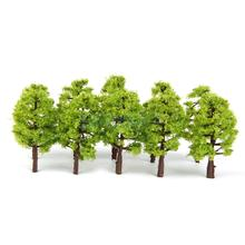 20pcs Model Tress Train Railroad Scenery 1:150 Light Green