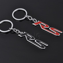 Fashion Metal RS Car Logo Keychain Key Chain Keyring Key Ring For Mercedes BMW Ford Audi RS S4 S6 S line Sline Sport Car Styling(China)