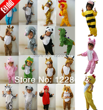 Free Shipping 24 Styles Cheap Animals Children Cosplay Pajamas Halloween Costume For Fantasia Kids Fantasia Infantil(China)