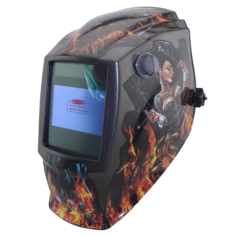 Out control Sexing Big view area 4 arc sensor Solar Auto darkening TIG MIG MMA welding helmet/face mask/welder mask/goggles<br>