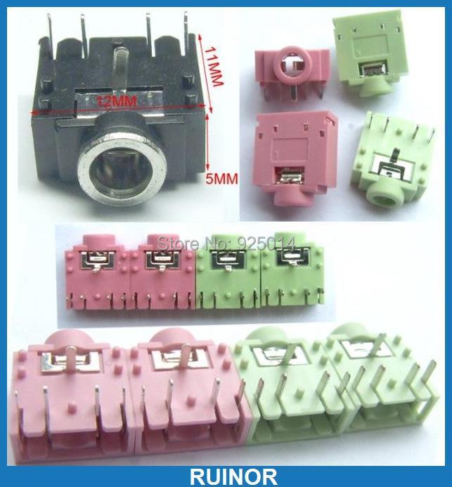 1500PCS colors 5PIN 1/8 3.5mm Stereo Jack Headphones Socket PCB Mount Soldering<br><br>Aliexpress