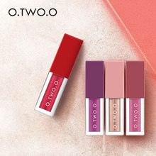 O.TWO.O 4Colors/Kit Winter Hot Make Up Lip gross Different Effect Matte Liquid Lip gross Waterproof Soft Glossy Shimmering(China)