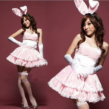 Buy Women Costumes Uniform Kawaii Sexy Lingerie Temptation Role Playing Bunny Rabbit Set Dance Dress Erotic Lingerie Christmas