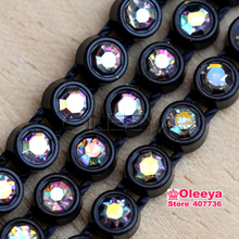 SS12 Plastic  Rhinestone Banding For Jewellery Findings10Yards Wedding Crystal Rhinestone Banding Rhinestone Banding Trim Y2325