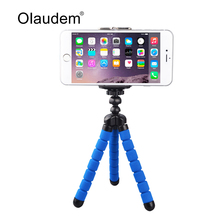 Universal Octopus Leg Portable Adjustable Flexible Tripod Stand with Clip For Mobile Phone Digital Camera Mount Holder MH568(China)