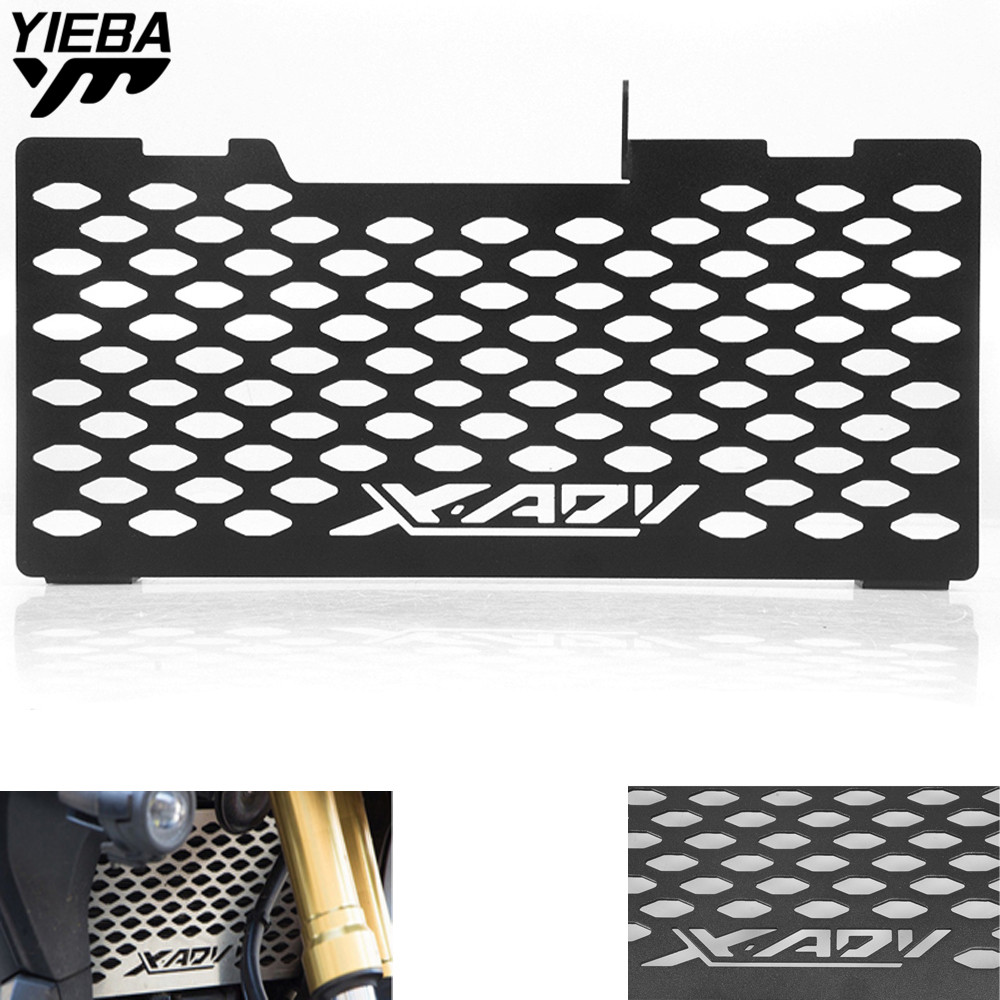 For HONDA X-ADV X ADV XADV 750 2017 2018 Motorcycle Accessories Aluminum Alloy Radiator Guard Protector Grille Cover XADV LOGO