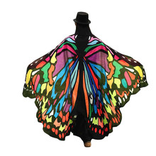 Fashion Arrival Butterfly Print Pashmina Women Soft Fabric Butterfly Wings Shawl Fairy Ladies Nymph Pixie Costume Mujer 32D201