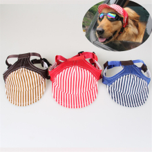 Summer Sunscreen Dog Caps Striped Travel Pet Hat For Outside Activity Breathable Baseball Caps For Dog Also Cat Use Hat PL135