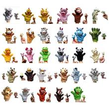 2Pcs Story Time Set of Hand Puppets and Finger Puppets-29 Animals Educational Puppets plush soft toys for kids/Children/students(China)
