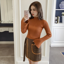 Buy fall winter women's new sweater pocket skirt two-piece clothing set girl knit suit lady outfit korean fashion clothes SM L for $39.38 in AliExpress store