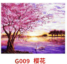 MaHuaf-X103 painting by numbers sakur Goose Landscape Hand Painted Acrylic Picture Wall Art drawing by number on canvas