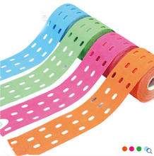 4Rolls/lot 5cm*5m breathable punch kinesiology sports tape endurance muscle therapy tape Strain Injury Support prevent fatigue