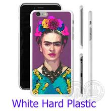 Trendy Frida Kahlo White Phone Case for iPhone 5S 5 SE 5C 4 4S 6 6S 7 Plus Cover ( Soft TPU / Hard Plastic for Choice )
