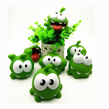 Game of Cut the Rope Frog Toys 1PCS OM NOM Candy Gulping Monster Action Figure Toy with SoundKid Doll