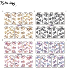 Colorful And Black Mixed Fashion Design Flowers Series Nail Stickers And Decals Fingernail Decorations For Nail Art