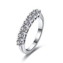 0.7 Carat Solid 750 Gold Seven Stones Undertaken Synthetic Diamonds Engagement Ring For Woman Great Design Forever Love Jewelry