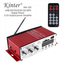 20W X 2  HiFi 2 Channel Output Power Amplifier FM Radio Stereo Playe Support USB / SD / DVD / MP3 Input with Remote Control