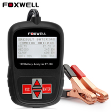 FOXWELL BT100 12V Auto Car Battery Tester 1100CCA Automotive Battery Analyzer Multi-Languages BAD Cell Test Free Shipping(China)