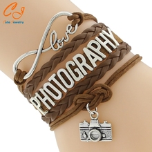 Infinity Love PHOTOGRAPHY Bracelet Customize Wristband friendship Bracelets(China)