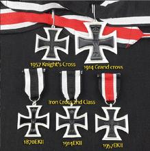 EKII 1870 1914 1957 Knight's Cross Ritterkreuz Grand Cross 5 Kinds Iron Cross German Military Decoration Medals Family(China)