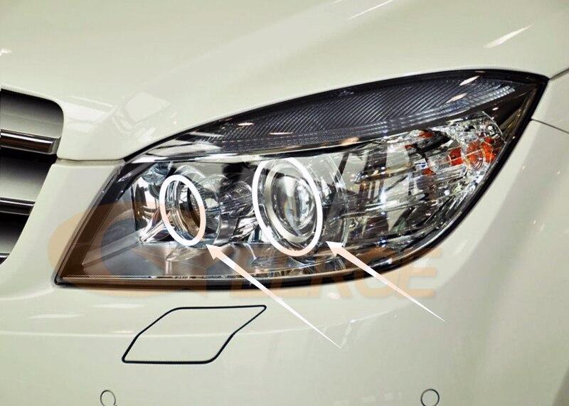 MERCEDES BENZ C Class W204 C204 S204 C300 C350 C63 2007-2011 Xenon headlight cob led angel eyes(1)