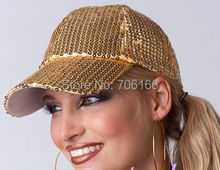 NEW Sequins hat /baseball cap / can MIXED+ WHOLESALE+EMS/DHL/FEDEX free shipping(China)