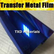 50X100CM/LOT High quality Blue Metal transfer PU VINYL for Plotter machine cutter for Garment heat transfer