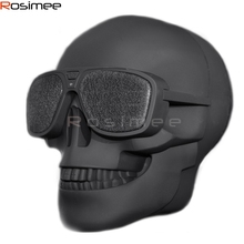 Bluetooth Speaker Wireless Compact Skull Head Portable Loudspeaker 8W NFC Audio Rechargeable Battery Music Player Drop Shipping