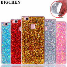 Buy BIGCHEN Case Huawei P10 P9 P8 Lite 2017 Nova Y3 II Y5 II enjoy 6 Bling Glitter Cover Silicone Cases Honor 7 8 5C 6X for $2.04 in AliExpress store