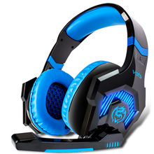 50mm diver unit big Headphones gaming headset headphone with microphone for computer noise cancelling Over-ear head phone LED