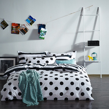 2017 New Product 100% Cotton Black & White Bedding Sets Duvet Cover Sets Luxury Bed Linens Flat Sheet pillowcases(China)