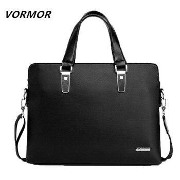 Vormor marca hombres de negocios bolsas de bolsa de ordenador portátil maletín hombres de cuero cruzada cuerpo bolso de los bolsos de mensajero de los hombres bolsas de viaje 2017