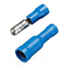 CNIM Hot 100 Blue Bullet Crimp Terminal Fully Insulated Electrical Connector Audio Wiring(China)