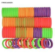 YWHUANSEN 40pcs/lot Hair accessories for girls women Scrunchy Hiar ties for children gum for hair Mix color elastic hair bands(China)