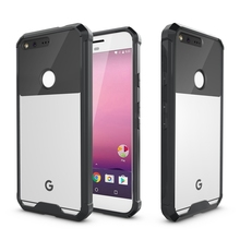 TPU Bumper + Acrylic Clear Transparent Phone Case For Google Pixel XL 5.5 Inches Protection Air Hybrid Hard Back Cover Shell