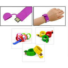New 2.0 Silicone Bracelet Cute Wrist Usb Flash Drive 128GB Pendrive 64GB 16GB 32GB Pen Drive Gift Memory Stick Mini Key 512GB