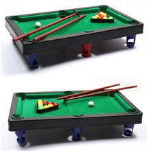 New 1 Set Funny Flocking desktop simulation billiards Novelty Mini billiards table sets children's play sports balls Sports Toys