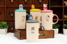 Creative Cartoon Totoro Novelty Hello Kitty Cute Business Gift Summer Cool Drink Milk Coffe Juice Doraemon water Mug BW40