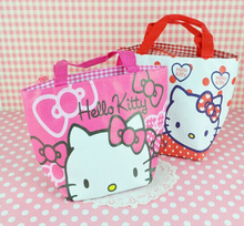 Kawaii NEW 30*20CM Hello Kitty Convinent SHopping Box BAG Pouch ; Storage Handbag Pouch BAG ; Shopping BAG Pouch