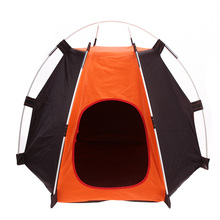Portable Folding Camping Pet tent Dog House Cage Dog Cat Tent Easy Operation  hexagon Fence Shelter Rainproof Washable