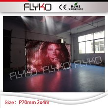 Free shipping 2m by 4m china sexy video led curtain led display wall hot video P7CM(China)