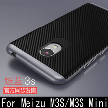 Meizu M3S Case Luxury hard PC frame+Silicon Hybrid Protective back cover meizu m3 mini (5.0 inch) m3S phone shell - Top wonderful store