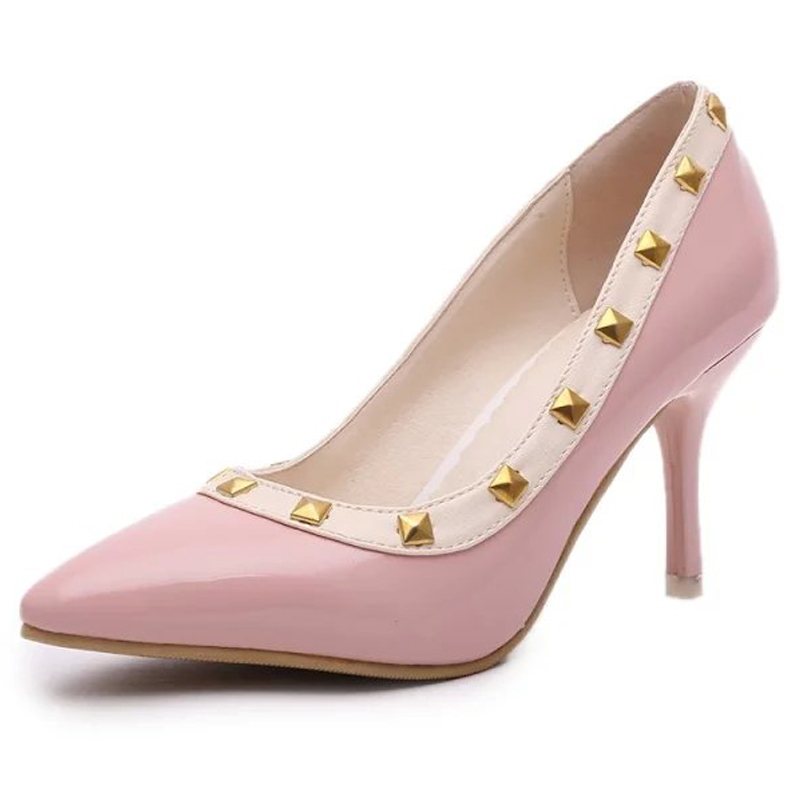 2017 fashion sexy women pumps white high heels ladies party shoes pink women wedding valentines shoes escarpins shop cheap shoes<br><br>Aliexpress