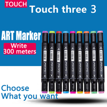 1pcs Touch Professional Art Markers Liner Oily Alcoholic Multicolor Manga Art Supplies Marker for Sketch Comics Student Design
