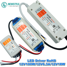 DC12V 18W/28W/48W/72W/100W Power Supply LED Driver Adapter LightingTransformer Switch For LED Strip LED Lights