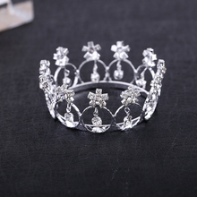 2017 Real Direct Selling Trendy Zinc Alloy Tiaras Mini And Rhinestone Round Tiara Crown For Newborn - Baby Photo Prop