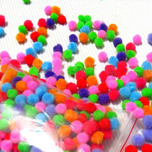 100pcs 10/15/20/30mm Multi Pompoms Christmas Plush Balls DIY Soft Home Events Wedding Decoration Pompon Flowers Crafts(China)