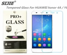 SIJIE Tempered Glass For HUAWEI honor 4A / Y6 0.26mm Screen Protector front stronger 9H thin discount with Retail Package