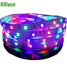 5m smd RGB led strip light DC12V 3528 54leds/m fexible smd led light led tape ribbon no waterproof 5m/roll strip